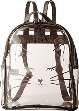 Clear Backpack with Cat Face