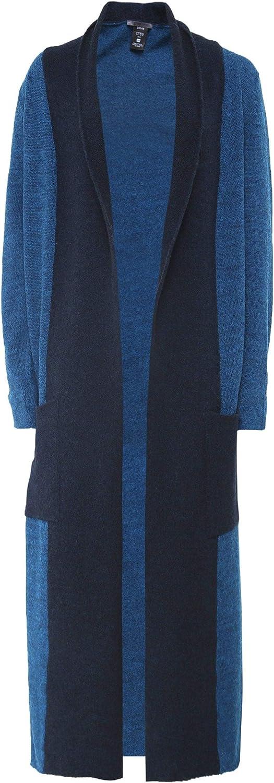 Crea Concept Women's Wool Blend Longline Cardigan Teal