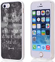 Case for iPhone SE Christian Quotes, Hungo Compatible Soft TPU Silicone Protector Cover Case Replacement for iPhone 5/5S/SE Bible Verses Do Not Be Afraid I Am with You Isaiah I5-BQ-6