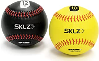 SKLZ Weighted Training Baseballs,  10 Ounce and 12 Ounce,  2 Pack (Old Model)