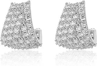 Cubic Zirconia Stud Earrings Small Jewelry Huggies Hoop...