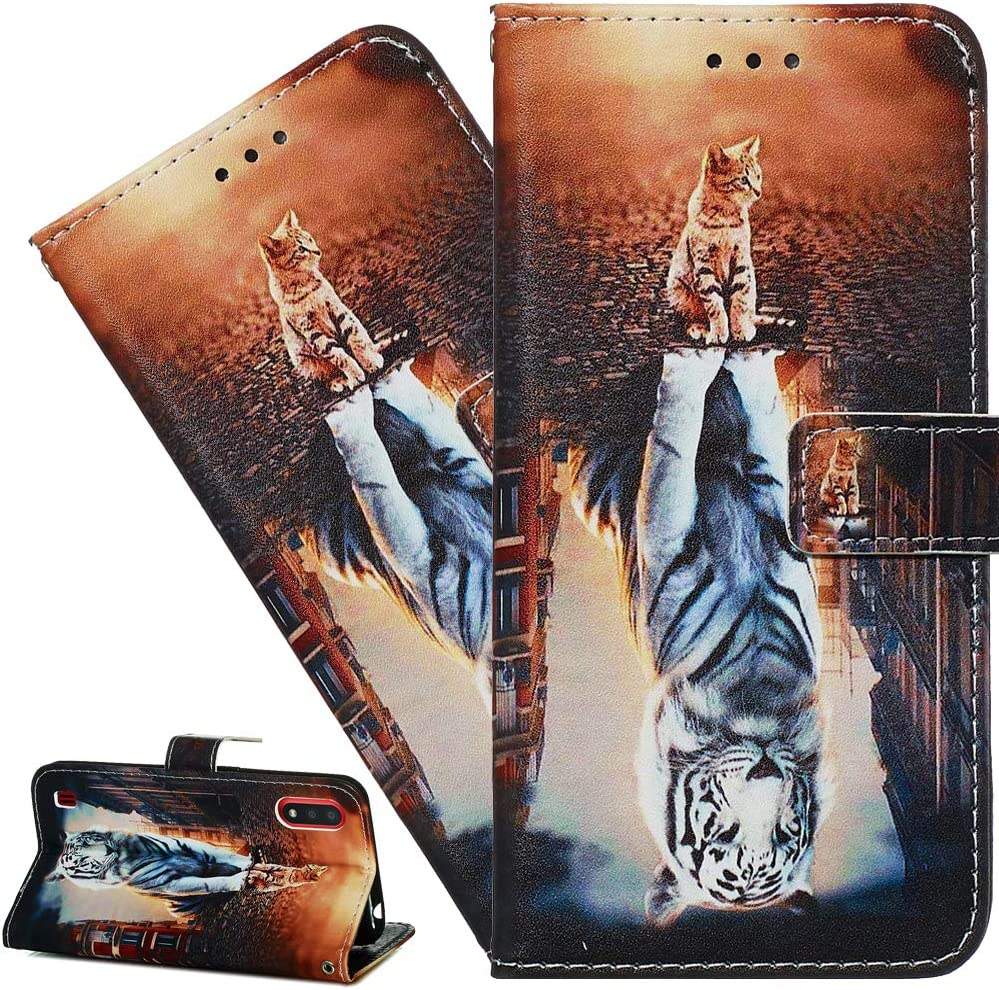 ISADENSER for Galaxy S20 Fan Edition 5G Case Galaxy S20 FE 5G Case [Wallet Stand] Flip Folio PU Leather Case Card Holder Slots Pouch with Magnetic Close Case for Samsung Galaxy S20 FE 5G. Cat Tiger YB