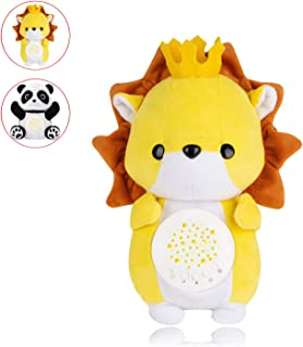 Baby Gifts/Baby White Noise Machine & Night Light Projector for Baby Sleep/Comfortable Lion-Shaped Animal Plush Toy & Soother/Decor for Crib, Bassinet, Nursery
