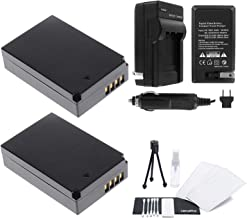 LP-E12 Battery 2-Pack Bundle with Rapid Travel Charger and UltraPro Accessory Kit for Select Canon Cameras Including EOS M, EOS M2, EOS M10, EOS M50, EOS M100, Rebel SL1, and EOS 100D
