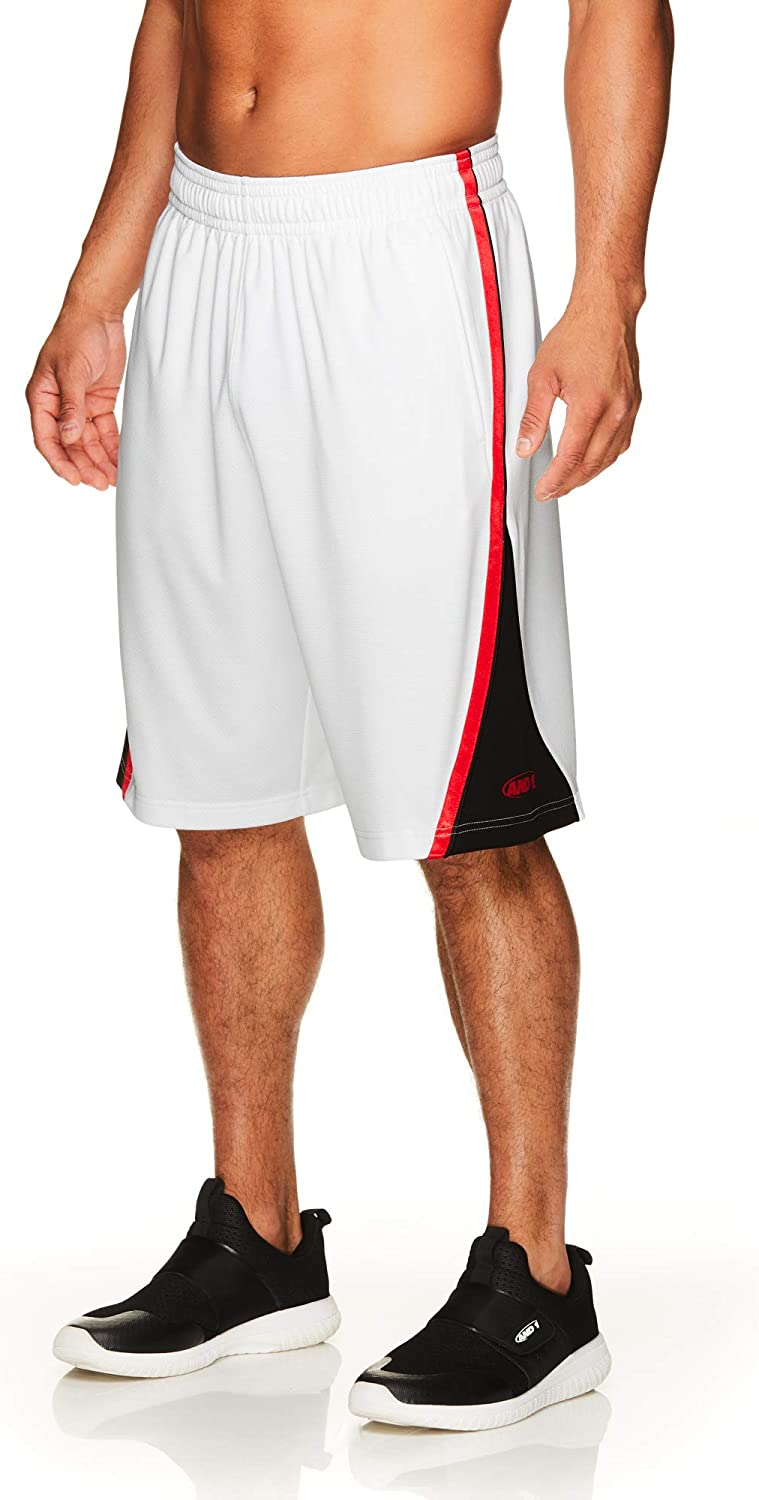 AND1 Men's Fashionable Basketball Gym Running w Elastic Waistband Shorts Outlet ☆ Free Shipping