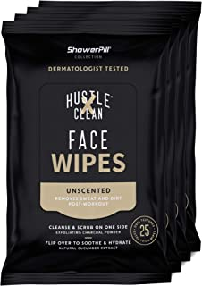 Hustle Clean, Face Wipe Shower Pill Collection, 100 Count