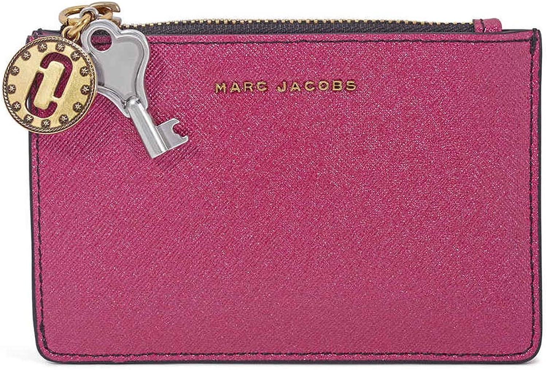 Marc Jacobs Womens Metallic Saffiano Top Zip Multi Wallet
