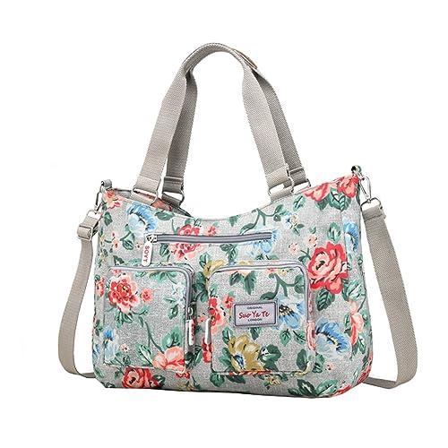 65c222dd06b17 Vbiger Handtasche Damen Gross Schultertasche Wasserdichte Umhängetasche  Shopper Tasche Nylon für Frauen