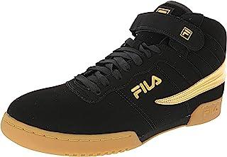 Fila Men's F-13 Black/Gold/Gum Hightop Sneakers Shoes