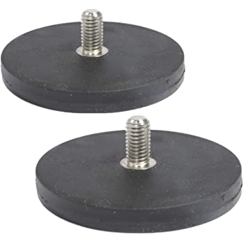 Flachgreifer Topfmagnet Gummierter Magnet weiß gummiert mit Gewindebuchse