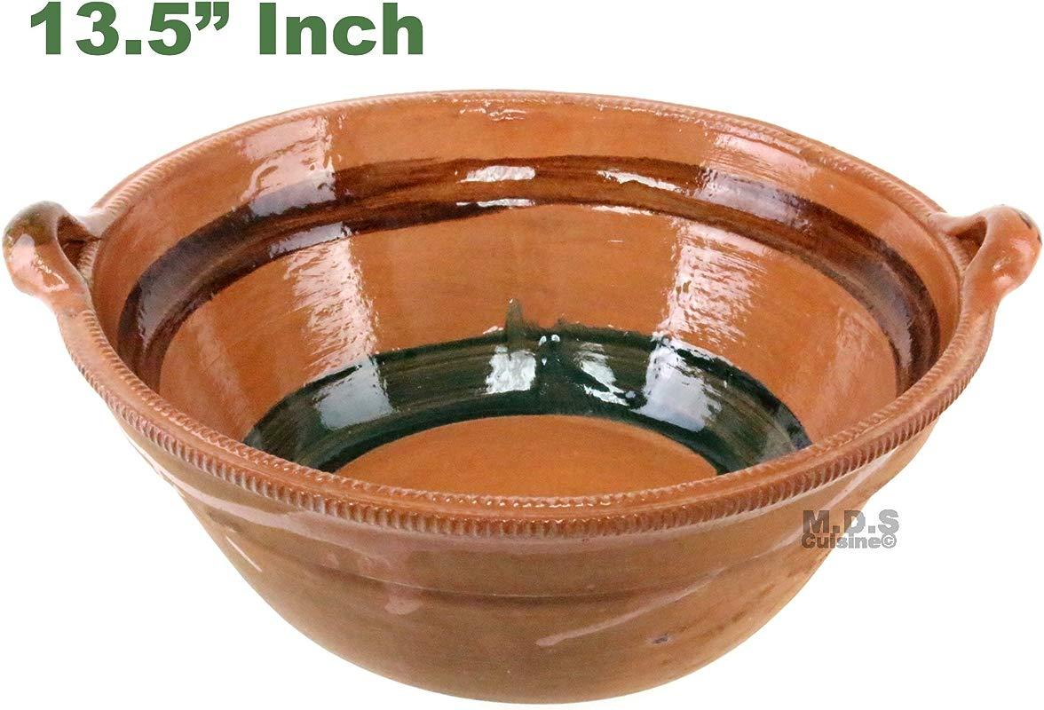 Cazuela De Barro 13 5 Lead Free Clay Pot Traditional Artisan Artezenia Casserole Olla Mexican
