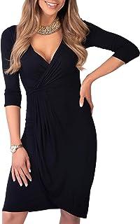 comprar comparacion KRISP Vestido Moda Mujer Fruncido