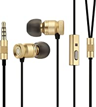 Wired Earbuds with Microphone,GGMM Nightingale Earphones with Mic,Dual Driver in Ear..