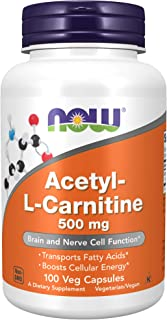 Now Foods - Acetyl L-Carnitine 500 Mg. 100 Vegetarian Capsules