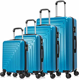 ONPNO 4 Piece Luggage Sets, Hardside Travel Rolling Suitcase with Spinner Wheels, Lightweight Luggage with Telescoping Han...