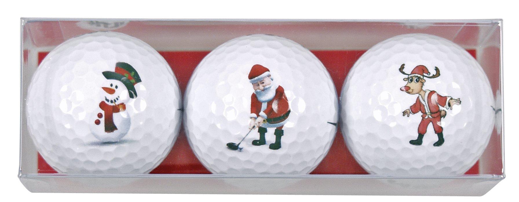 3 pelotas de golf con motivos navideños Niklaus golfista: Amazon ...