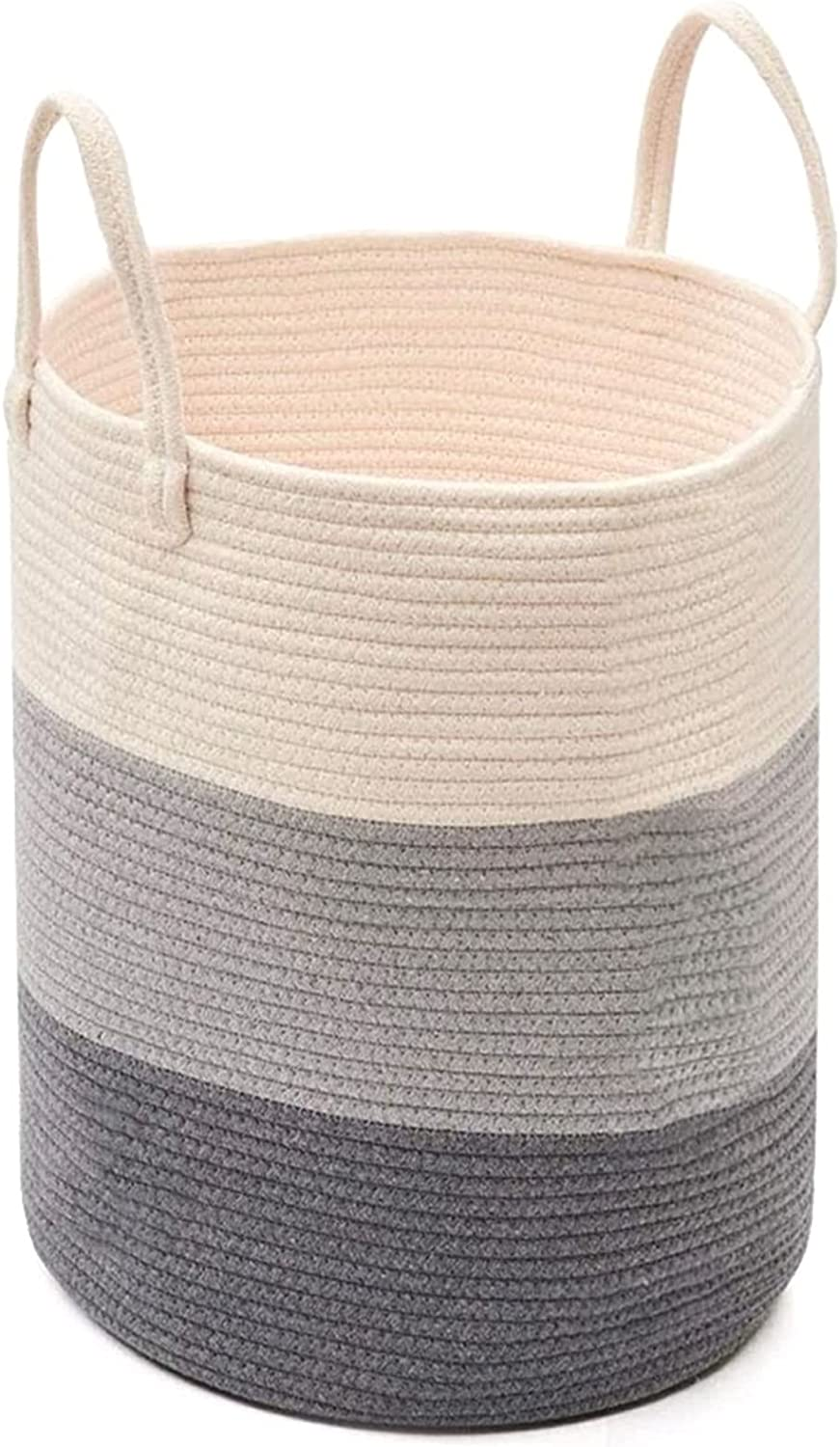 DSWHM Storage Basket Soft Ba New Orleans Mall Laundry Large discharge sale Woven Cotton