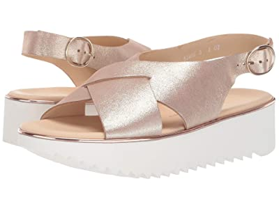 Paul Green Amelia Sandal (Blush Metallic Suede) Women