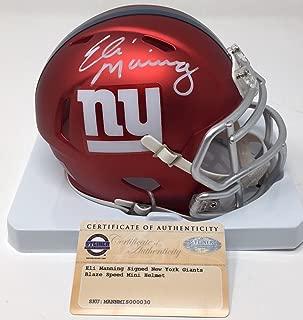ELI MANNING Autographed New York Giants Mini Blaze Helmet STEINER
