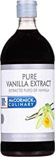 McCormick Culinary Vanilla Extract, 32 fl oz - One 32 Fluid Ounce Container of Gluten Free and Non-GMO Pure Vanilla Extrac...