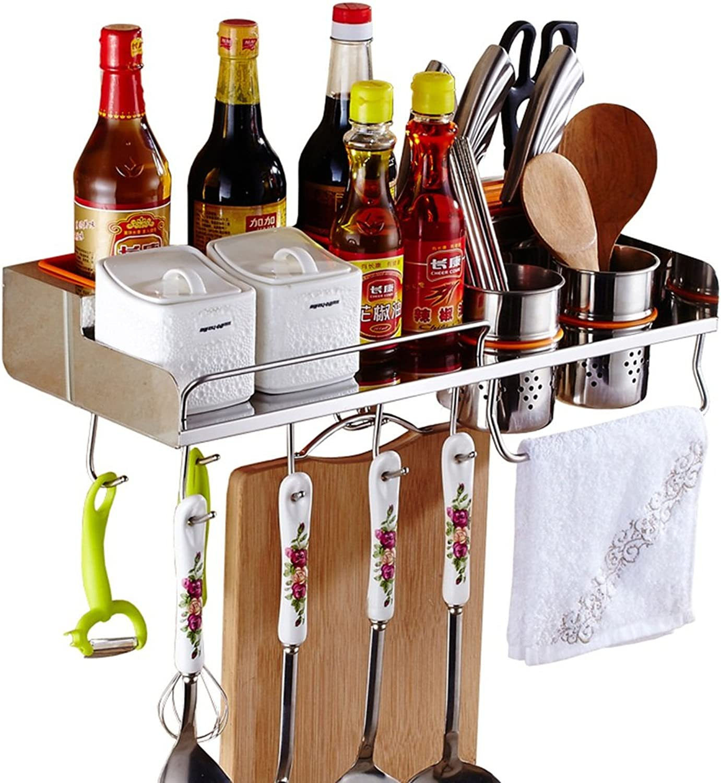 Kitchen Shelf Wall-Mounted Shelf Wall Kitchenware Storage Shelf 304 Stainless Steel -by TIANTA