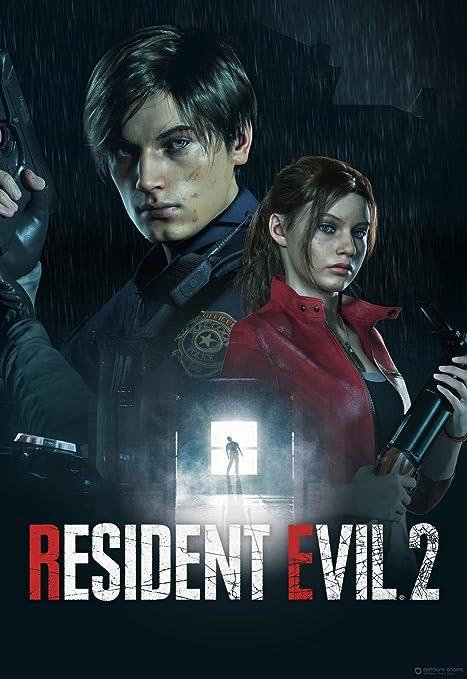 Resident Evil 2 Remake Poster Video Game Art Silk Poster Print 24x36 inch
