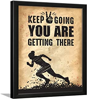 Chaka Chaundh Vintage Success, Keep Going Motivational Photos with Quotes Wall Framed Posters (34cm x 27cm x 4cm , Beige)