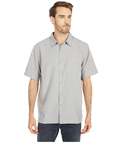 Quiksilver Waterman Centinela 4 Short Sleeve Shirt (Flint Gray 2) Men