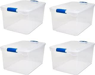 HOMZ 66-Qt Plastic Storage Boxes - Set 4