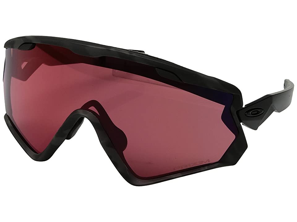 Oakley Wind Jacket 2.0 Snow (Night Camo w/ Prizm Snow Torch) Athletic Performance Sport Sunglasses