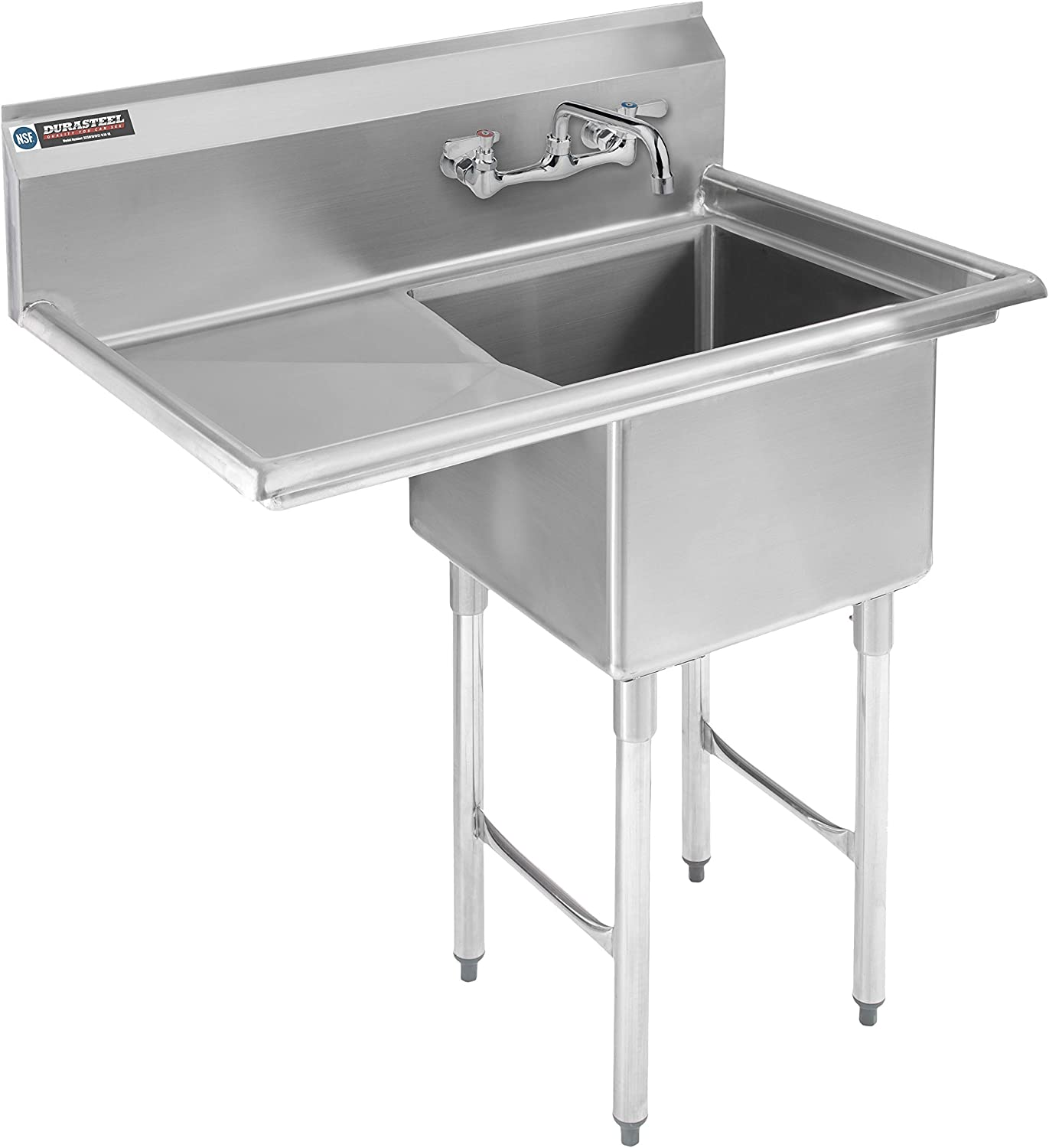 Stainless Steel Kitchen Sink with Faucet Deluxe - Compartme 1 DuraSteel Lowest price challenge