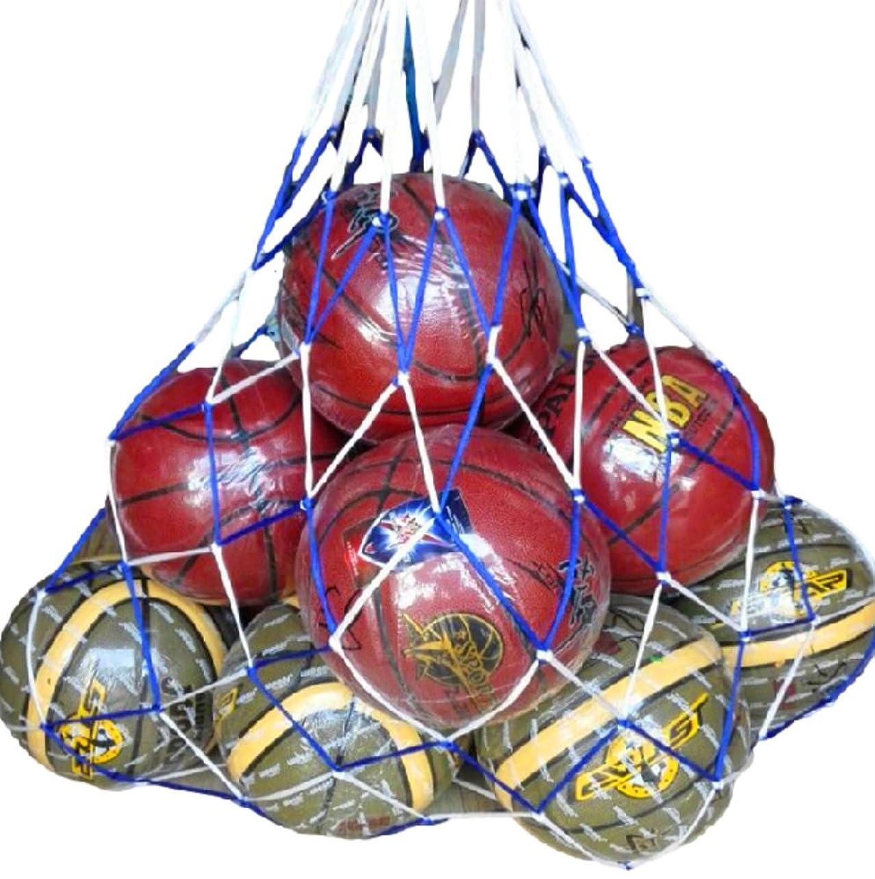 情緒的急ぐ同情的(リッチェ) Ricce 大容量 ! バスケットボール 10個 収容 特大 メッシュ ボールネット 網袋 ネット 簡易バッグ キャリーバッグ 袋 サッカーボール バレーボール フットサル バスケ サッカー バレー ボール 学生 部活 試合 練習