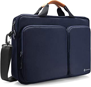 tomtoc Travel Messenger Bag 15.6 Inch with Protective Laptop Compartment Briefcase Shoulder Bag Fit for 13 - 15 Inch HP Dell Acer Lenovo Asus Samsung Notebook Tablet, Dark Blue