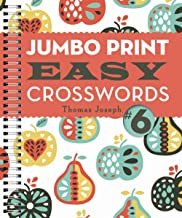Jumbo Print Easy Crosswords #6 (Large Print Crosswords)