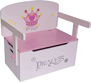 Kiddi Style 3in1 Princess Convertible Toy Box Bench  amp  Table Chair