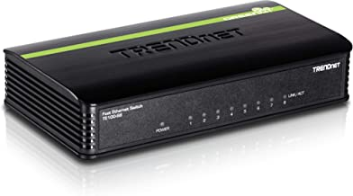 TRENDnet 8-Port Unmanaged 10/100 Mbps GREENnet Ethernet Desktop Plastic Housing Switch, TE100-S8