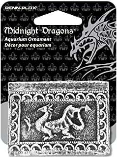 Midnight Dragons Mini Treasure Chest Aquarium Ornament