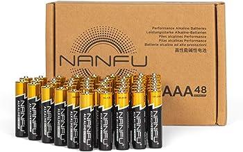 48-Pack Nanfu High Performance AAA Alkaline Batteries