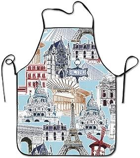 HATS-1 Unisex Kitchen Aprons Eiffel Tower Paris France Chef Apron Cooking Apron Barbecue Aprons