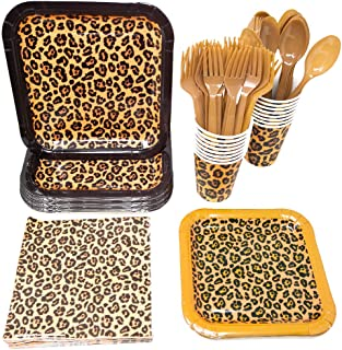 Leopard Print Party Supplies Pack (113+ Pieces for 16 Guests!), Leopard Party, Cheetah Print Tableware