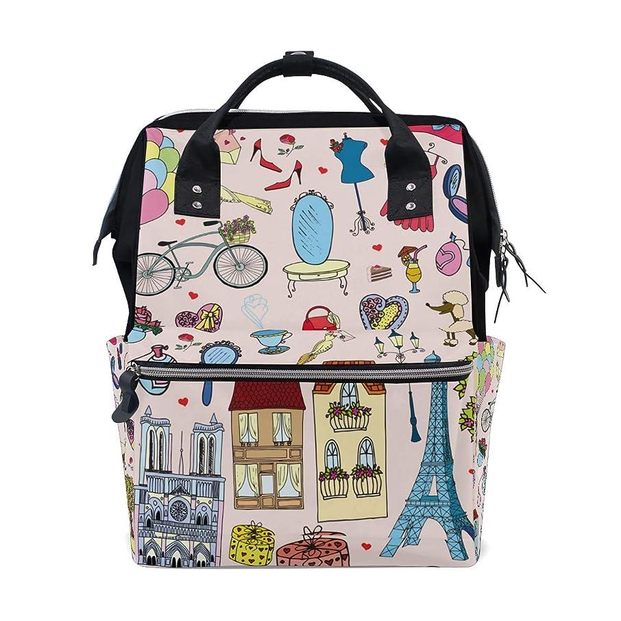 Backpack Romantic Paris Eiffel Iron School Rucksack Diaper Bags Travel Shoulder Large Capacity Bookbag for Women Men
