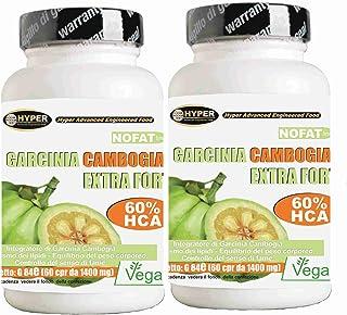 Garcinia Cambogia Extra Fuerte Quemador de Grasa Promueve la Pérdida de Peso 2 BOX X 60 tabletas 1000 mg Quema de Grasa Anti Hambre Reduce el Apetito Ayuda a Drenar 1 paquete 2 meses de tratamiento