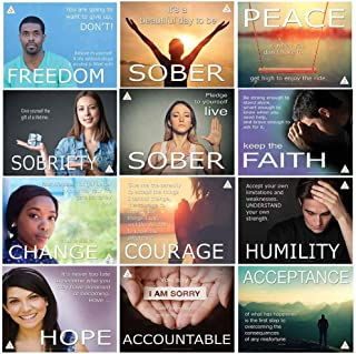 Jaguar Educational Choose Sober Living Poster Series Including 12 Laminated Posters Displaying Courage and Hope for Sober Living