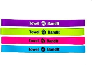 Towel BandIt Beach Towel Holder Paradise 4 Pack-Keeps Your Towel on Your Chair
