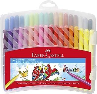 Faber-Castell - Plumones Fiesta x 36 piezas (Estuche Rígido)