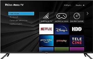 Smart TV Philco PTV50RCG70BL Roku 50 Polegadas, 4K UltraHD D-Led, Borda Infinita, Quad Core, Preta