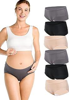 Momcozy Maternity Underwear Under Bump Postpartum Pregnancy Panties for Women 6 Packs