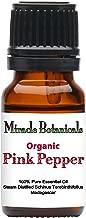 Miracle Botanicals Organic Pink Pepper Essential Oil - 100% Pure Schinus Terebinthifolius - Therapeutic Grade - 10ml