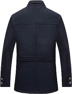 Cappotto Invernale in Lana E Pelliccia Uomo Uomo Mid Abbigliamento Age Vintage Warm Ispessimento Outwear Manica Lunga Coll...