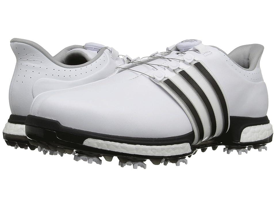adidas Golf Tour360 Boa (Ftwr White/Core Black/Dark Silver Metallic) Men